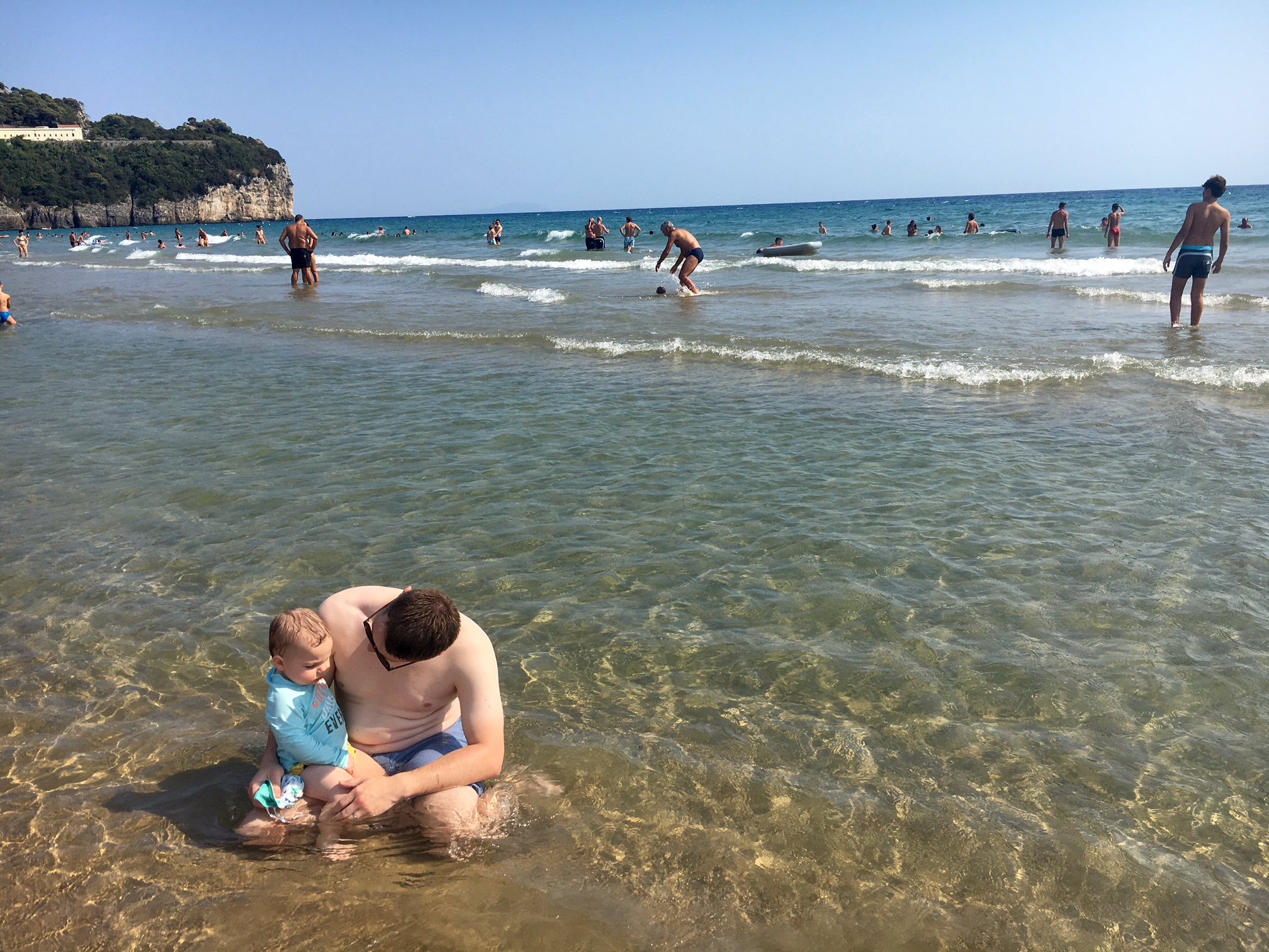 Italian Beach Day with My Boys