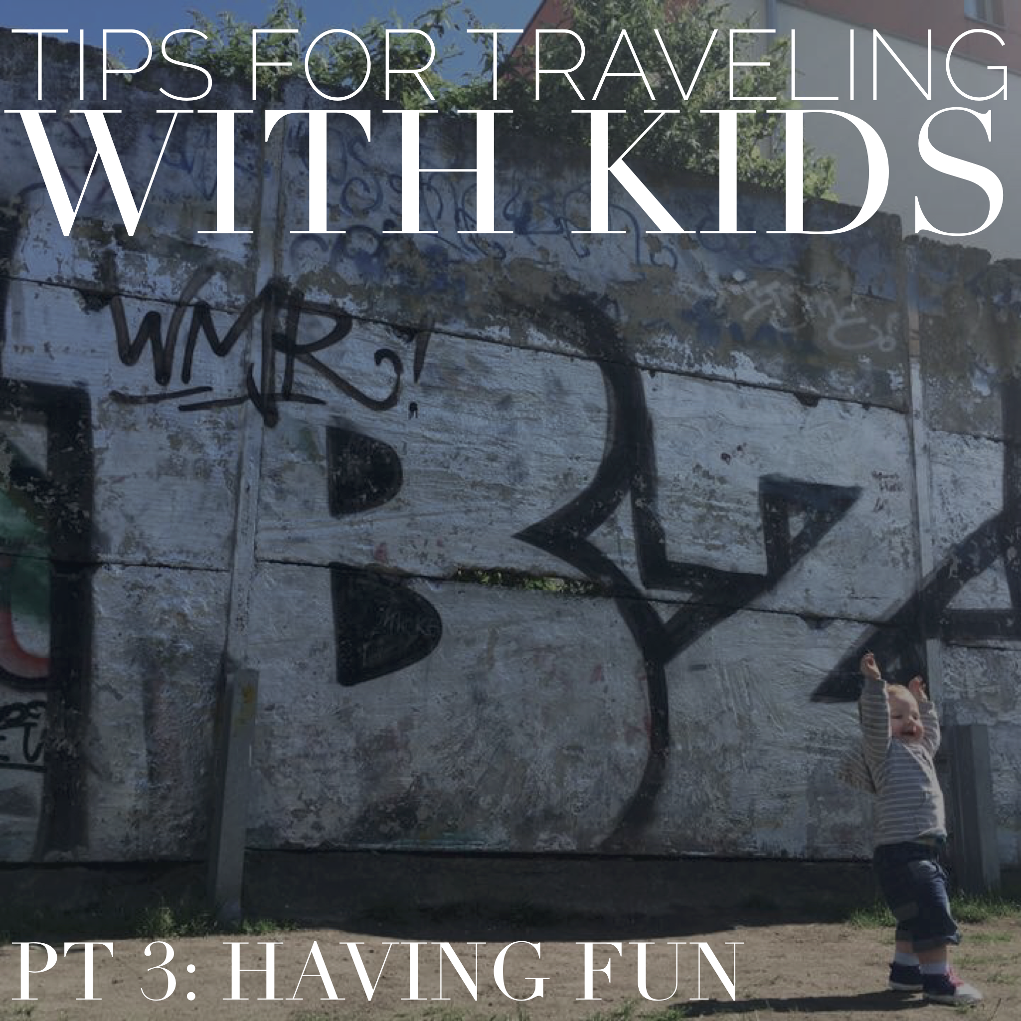 traveling with kids having fun